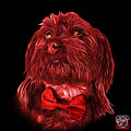 Red Schnoodle Pop Art 3687 - Bb by James Ahn