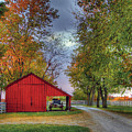 Red Shaker Carriage Barn by Sam Davis Johnson