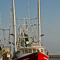 Red Shrimp Boat by Christopher Holmes