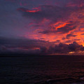 Red Skies At Night Hawaii by Phil Welsher