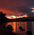 Red Skies Over Loch Rannoch by Bel Menpes