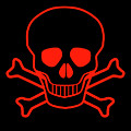 Red Skull And Crossbones by Bigalbaloo Stock