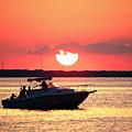 Red Sky At Long Beach Island by John Rizzuto