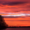 Red Sky At Morning Pano by James Barber