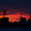 Red Sky At Night by Rick  Monyahan