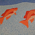 Red Snapper Inlay On Alabama Welcome Center Floor by Marian Bell