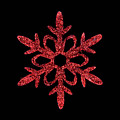 Red Snowflake Ornament by Diane Macdonald