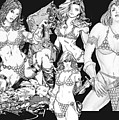 Red Sonja Collage by Bill Richards