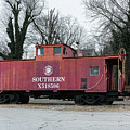 Red Southern Caboose by Sharon Popek