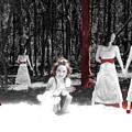 Red Stains - Self Portrait by Jaeda DeWalt