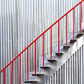 Red Staircase by Russ Dixon