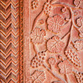 Red Stone Carvings In Fatehpur Sikri by Aivar Mikko