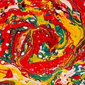 Red Swirl by Jan Pellizzer