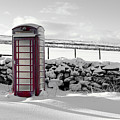 Red Telephone Box In The Snow Iv by Helen Northcott