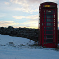 Red Telephone Box In The Snow Vii by Helen Northcott