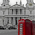 Red Telephone Boxes In London by Gary Eason