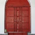 Red Temple Door by Carol Groenen