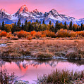 Red Teton Tip Reflections by Adam Jewell