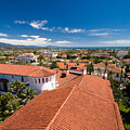 Red Tile Roofs Of Santa Barbara California by George Oze