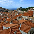 Red Tiled Roofs Of Dubrovnik by Clyn Robinson
