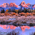 Red Tip Teton Reflection Panorama by Adam Jewell