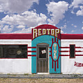 Red Top Diner On Route 66 by Priscilla Burgers
