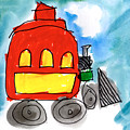 Red Train by Isabel Tubao Age Five