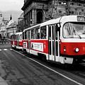 Prague - Red Tram by Miles Whittingham