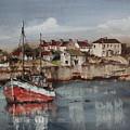 Red Trawler,innismore, Aran...p0001895 by Val Byrne