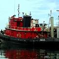 Red Tugboat by Christi Willard