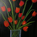Red Tulips by Sher Green