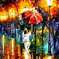 Red Umbrella by Leonid Afremov