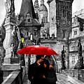 Red Umbrella by Yuriy  Shevchuk
