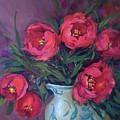 Red Velvet Tulips by Nancy Medina