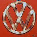 Red Vw Bus Emblem by Jani Freimann
