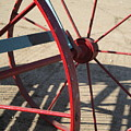 Red Waggon Wheel by Susan Baker