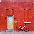 Red Wall White Bike by Edward Fielding