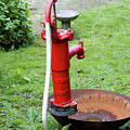 Red Water Pump by Bernard Barcos
