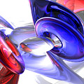 Red White And Blue Abstract by Alexander Butler