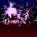 Red White And Blue Fireworks by Heather Joyce Morrill