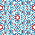 Red White And Blue Fireworks Pattern- Art By Linda Woods by Linda Woods