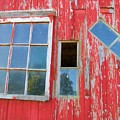 Red Wood And Windows by Alice Gipson