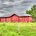 Red Wood Barn - Edna, Tx by Greg Vajdos