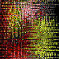 Red Yellow White Black Abstract by Tom Janca