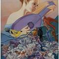 Redbird Sings To Farie by Pamela Mccabe
