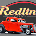 Redline Hot Rod Garage by Paul Kuras