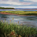 Reeds By The Water by Lorraine Vatcher