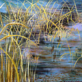 Reeds In The Water by Art Nomad Sandra  Hansen