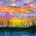 Reedy Sunset by Anne Marie Brown