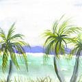 Reef Village Caribbean View by Ruth Bevan